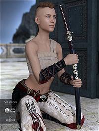 Katana and Poses for Genesis 8 Female(s)