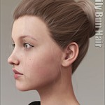 Daily Bun Hair for Genesis 3 and 8 Females by outoftouch