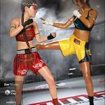 dForce Muay Thai Outfit Textures