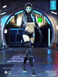 Zari SciFi Outfit for Genesis 8 Female(s)