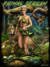 dForce Primal Scream Outfit for Genesis 8 Female(s)