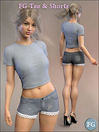 FG T-Shirt and Shorts for Genesis 8 Female(s)