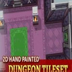 2D Hand Painted Dungeon Tileset