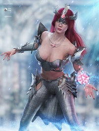 dForce Knight Priestess Outfit and Weapons for Genesis 8 Female(s)