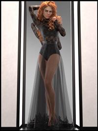 dForce Multi Bodysuit Skirt Outfit for Genesis 8 Female(s)