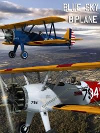 Blue Sky Biplane