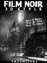 Film Noir 3D Style Back To Black & White