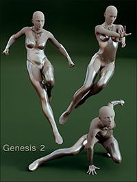 Superhero Poses for Genesis 2 & Victoria 6 by LeoLee
