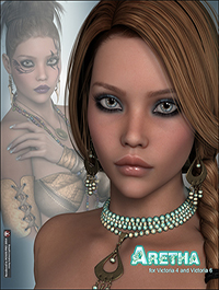P3D Aretha for Victoria 4 Genesis 2 Female and Victoria 6 by P3Design