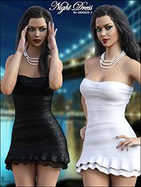 Night Dress For Genesis 3 by mytilus