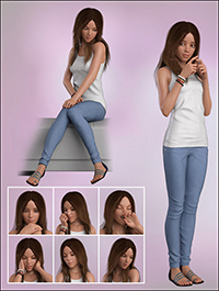 Shy Girl Poses for Teen Josie 8 and Victoria 8