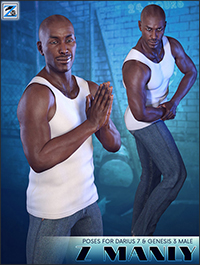 Z Manly - Poses for Darius 7 & Genesis 3 Male