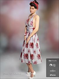 dForce Iconic Dress for Genesis 8 Female(s)