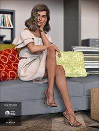 dForce Off The Shoulder Dress for Genesis 8 Female(s)