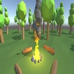 Low Poly Fire and Smoke