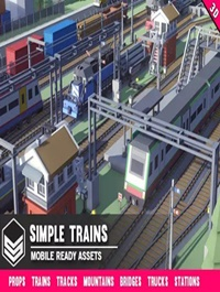 Simple Trains Cartoon Assets
