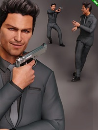Spy Guy Poses for Jonathan 8 and Genesis 8 Male