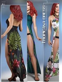 dForce Tropicana Dress for Genesis 8 Females