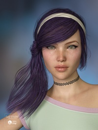 Effa Hair 2 for Genesis 3 and 8 Female(s)