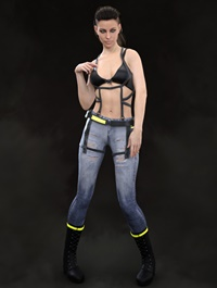 X-Fashion War Girl Outfit for Genesis 8 Female(s)