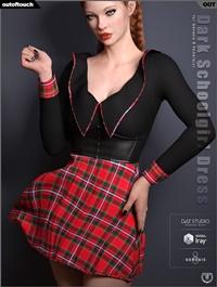 Dark Schoolgirl Dress for Genesis 8 Female(s)