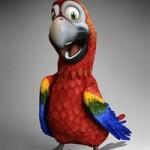 Cartoon Parrot for Daz Studio