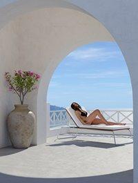 Greek Island Overlook